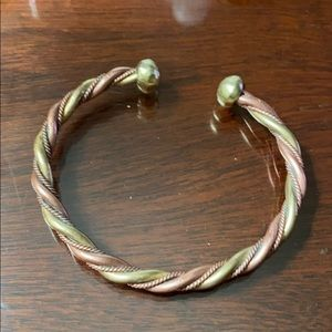 Copper Brass Silver Cuff Signed Made in Germany